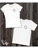 Koszulki dla pary Serduszka