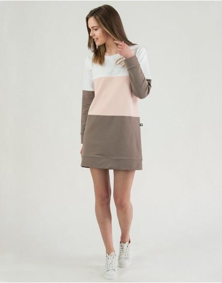 Sukienka ciążowa i do karmienia piersią COMFY Pink