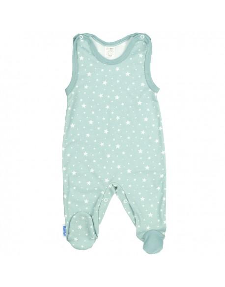 Śpioszek niemowlęcy miętowy w gwiazdki