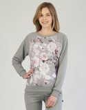 Komplet bluza i spodnie dresowe Grey Flowers