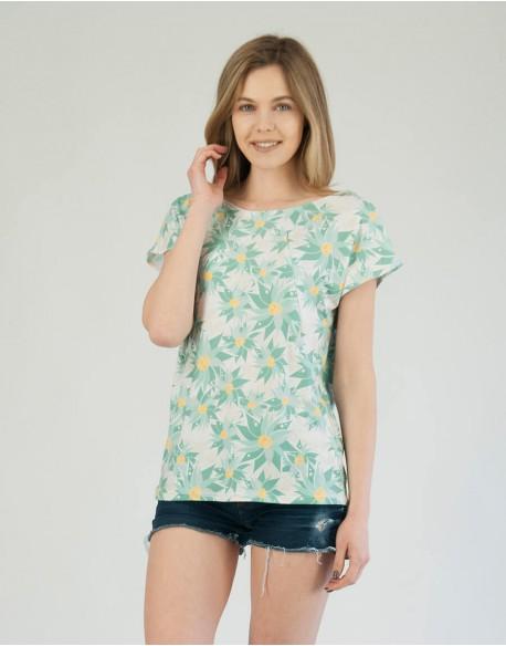 T-shirt do karmienia piersią ALLDAY Minty Flowers