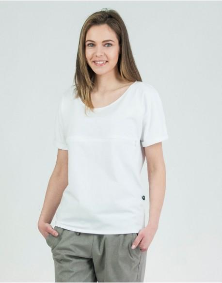 T-shirt do karmienia piersią BASIC biały