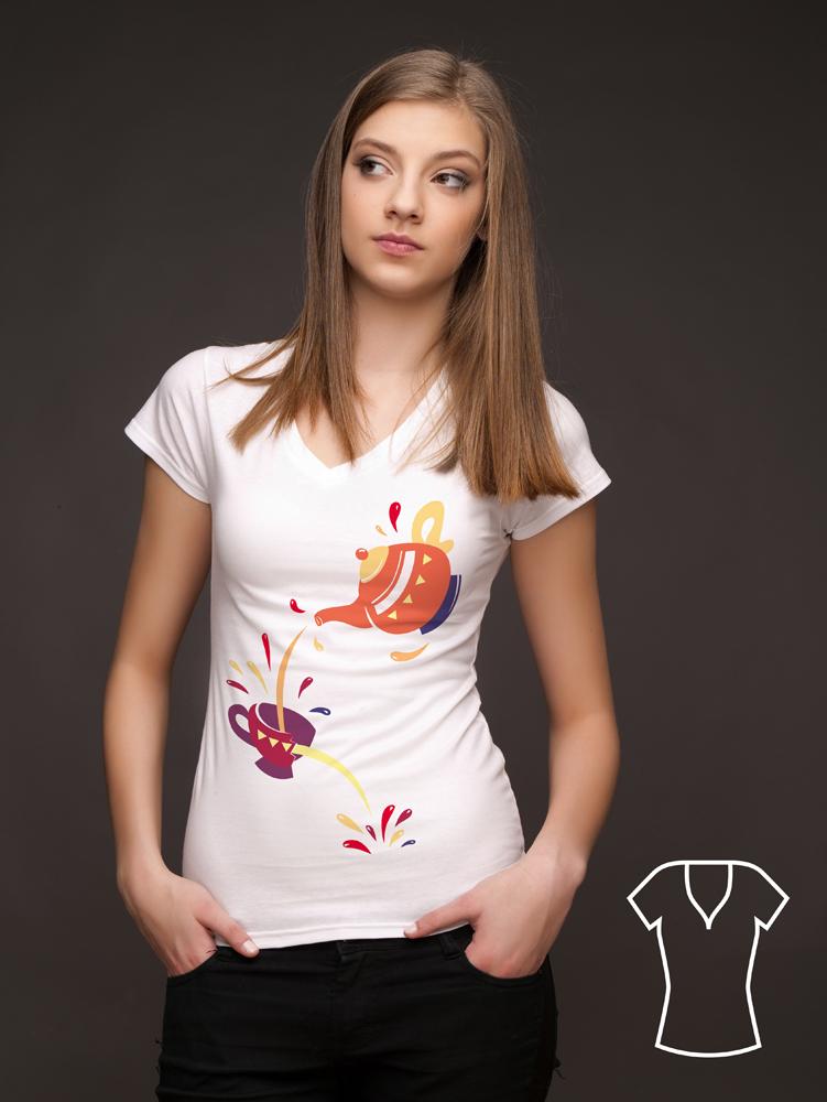 Alicja w Krainie Czarów print na koszulce z nadrukiem