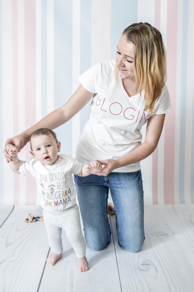 Aicja i Pola w koszulkach Blogiń