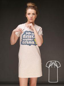 sukienki z nadrukiem dla młodych mam (+funkcjonalność do karmienia piersią)